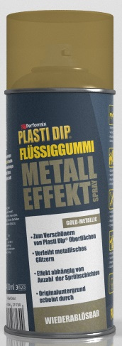 plasti dip fl ssiggummi spray 400 ml metall effekt gold. Black Bedroom Furniture Sets. Home Design Ideas