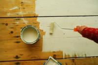 Holzfußboden Lackieren ~ Holzboden holztreppe farbig deckend streichen lackieren kein