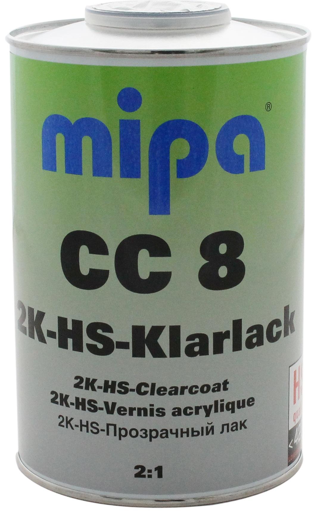 mipa autolack 2k hs klarlack cc 8 preis ab mipcc8 x. Black Bedroom Furniture Sets. Home Design Ideas