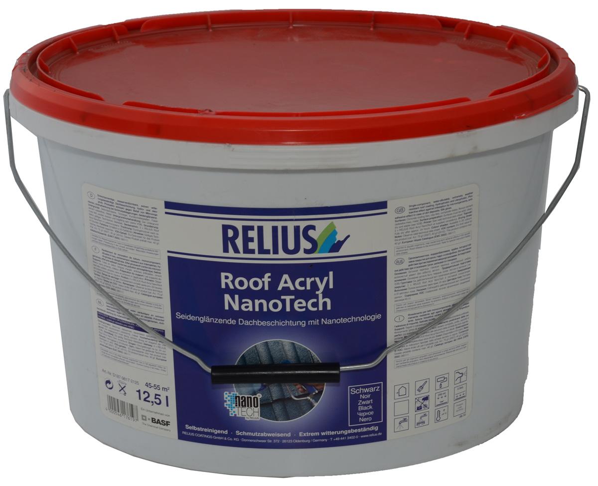 Bevorzugt RELIUS Roof Acryl NanoTech Dachfarbe, Dachbeschichtung günstig bei KD31