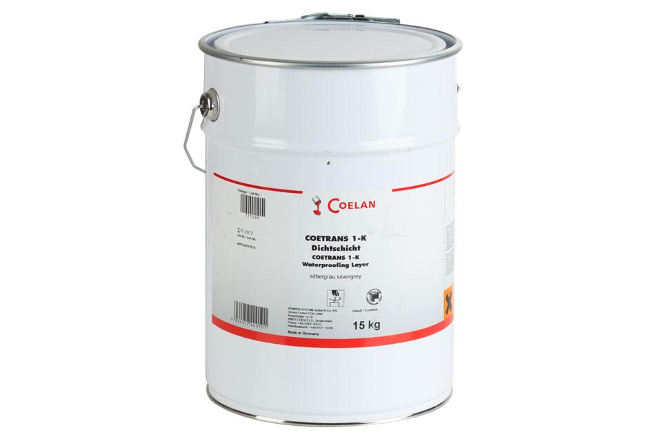 Coetrans 1 k dichtschicht silbergrau 15 kg eimer co30170 for Wandfarbe silbergrau