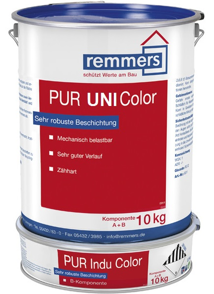 Remmers pur uni color n silbergrau ca ral 7001 10 0 kg for Wandfarbe silbergrau