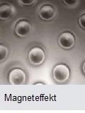 Magneteffektlack auf Glas