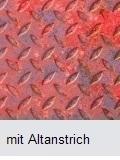 Metallboden mit Altanstrich