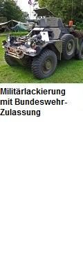 Lackierung von Militärfahrzeugen mit Zulassung nach Bundeswehrvorschrift