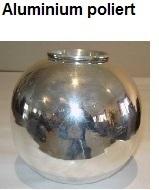 poliertes Aluminium lackieren
