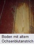 Holzboden mit Ochsenblut neu versiegeln