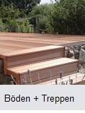 Holzterrasse, Holzbalkon streichen