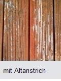 Holzterasse mit Altanstrich